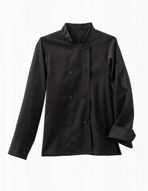 Five Star Chef Apparel Ladies 8 Button Chef Jacket - Black - Unisex - Chefwear