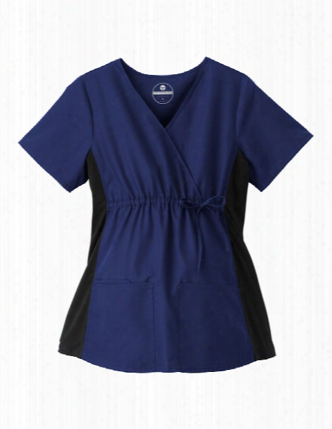 Fundamentals Maternity Scrub Top - New Navy - Female - Women's Scrubs