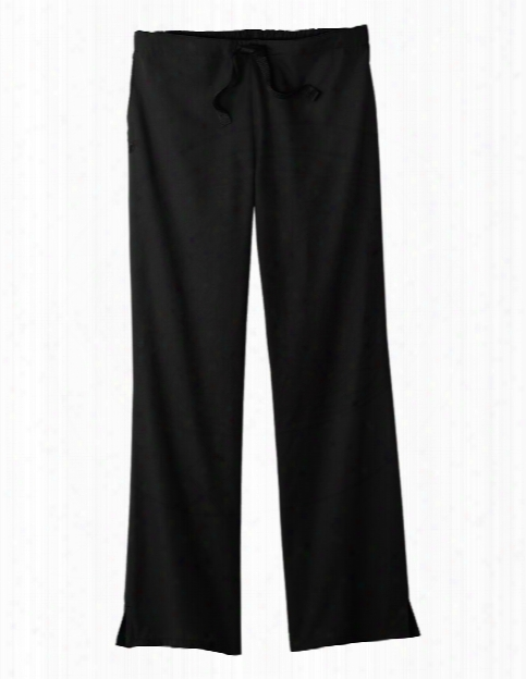 Fundamentals Professional Drawstring Scrub Pant - Black - Female - Women's Scrubs