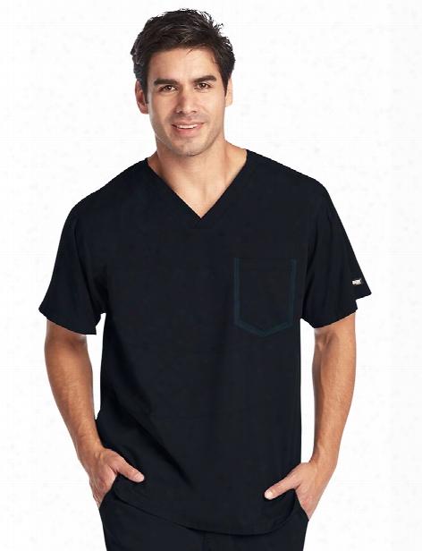 Grey's Anatomy Impact Men's Ascend Scrub Top - Black - Male - Men's Scrubs