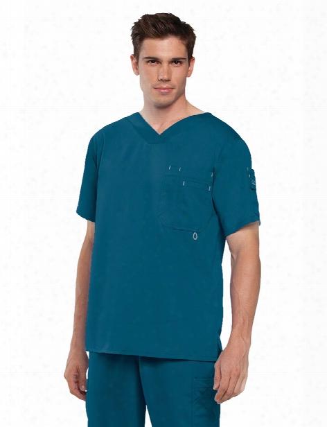 Grey's Anatomy Men's Derek Scrub Top - Bahama - Male - Men's Scrubs