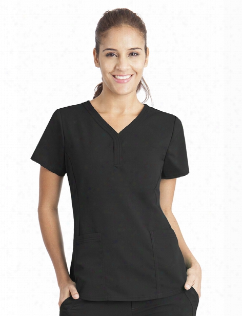 Healing Hands Purple Label Jane Scrub Top - Black - Female - Women's Scrubs
