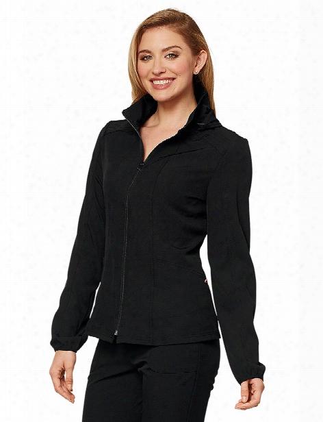 Heartsoul Hooded Warm-up Scrub Jacket - Black - Female - Women's Scrubs