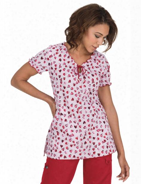 Koi Heart To Heart Bridgette Scrub Top - Print - Female - Women's Scrubs