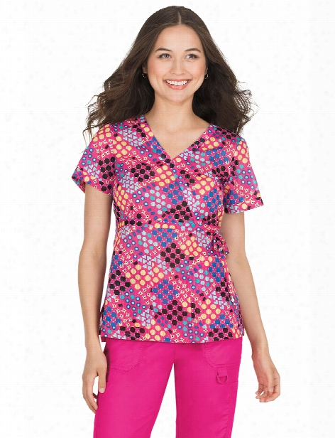 Koi Love Geometry Kathryn Scrub Top - Print - Female - Women's Scrubs