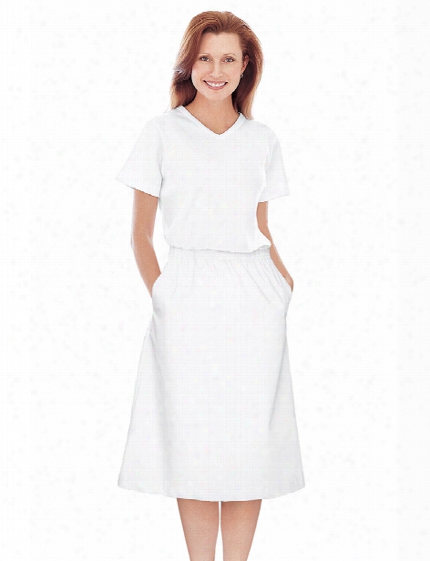 Landau Student White A-line Skirt - White - Female - Women's Scrubs