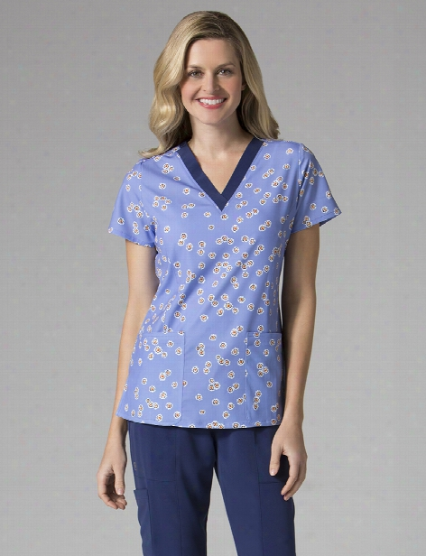 Maevn Daffodil Wonder Scrub Top - Print - Female - Women's Scrubs