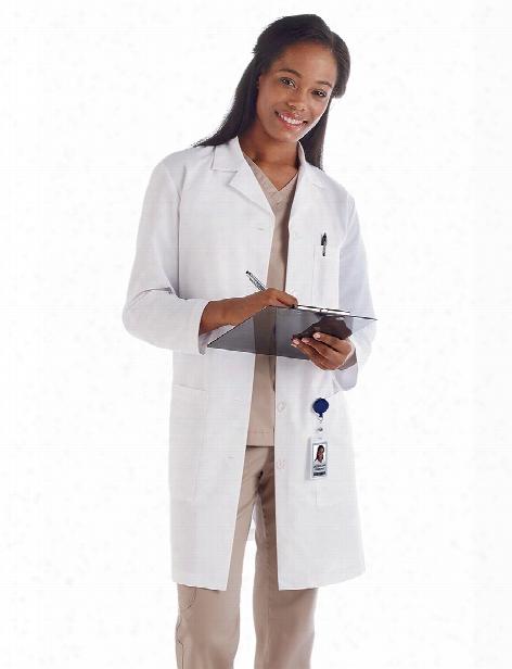 Meta Labwear Ladies 37 Inch Fundamentals Lab Coat - White - Female - Women's Scrubs