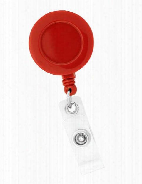 Think Medical Solid Badge Reel - Red - Unisex - Medical Supplies