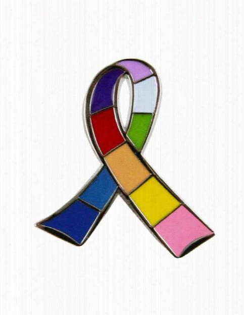 Think Medical Think Medical Breast Cancer Awareness Multi Ribbon Lapel Pin - Unisex - Medical Supplies