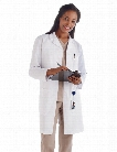 Meta Labwear Ladies 37 inch Fundamentals Lab Coat - White - female - Women's Scrubs