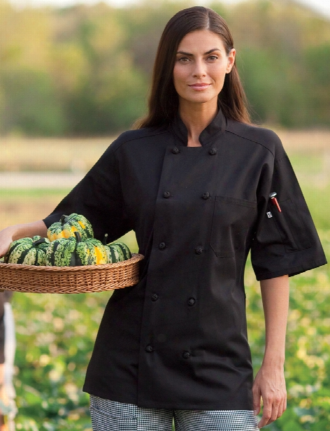 Uncommon Threads Antigua Chef Coat - Black - Unisex - Chefwear
