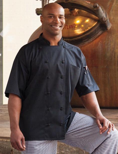 Uncommon Threads Aruba Chef Coat - Black - Unisex - Chefwear