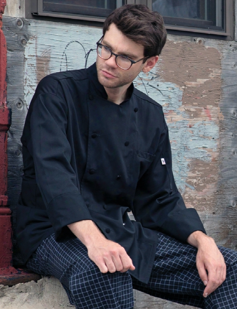 Uncommon Threads Barbados Chef Coat - Black - Unisex - Chefwear