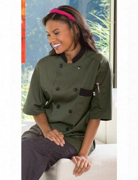 Uncommon Threads Bristol Chef Coat - Olive - Unisex - Chefwear