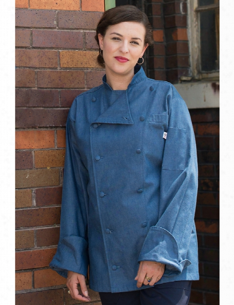 Uncommon Threads Chambray Sante Fe Chef Coat - Chambray - Unisex - Chefwear