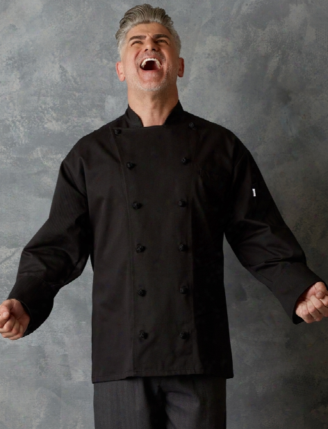 Uncommon Threads Executive Chef Coat - Black - Unisex - Chefwear