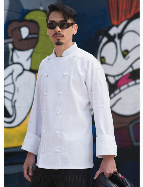 Uncommon Threads Mirage Chef Coat - White - Unisex - Chefwear