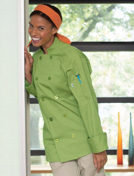 Uncommon Threads Orleans Chef Coat - Avocado - Unisex - Chefwear
