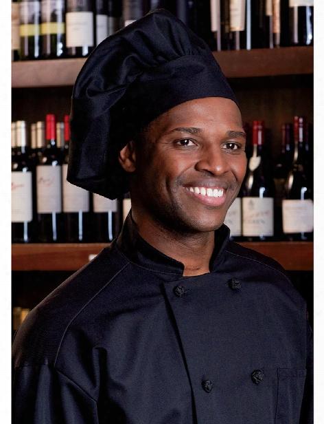 Uncommon Threads Poplin Chef Hat - Black - Unisex - Chefwear
