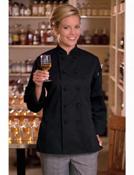 Uncommon Threads Sedona Chef Coat - Black - Unisex - Chefwear