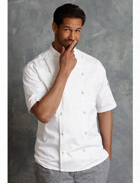 Uncommon Threads Short Sleeve Master Chef Coat - White - Unisex - Chefwear