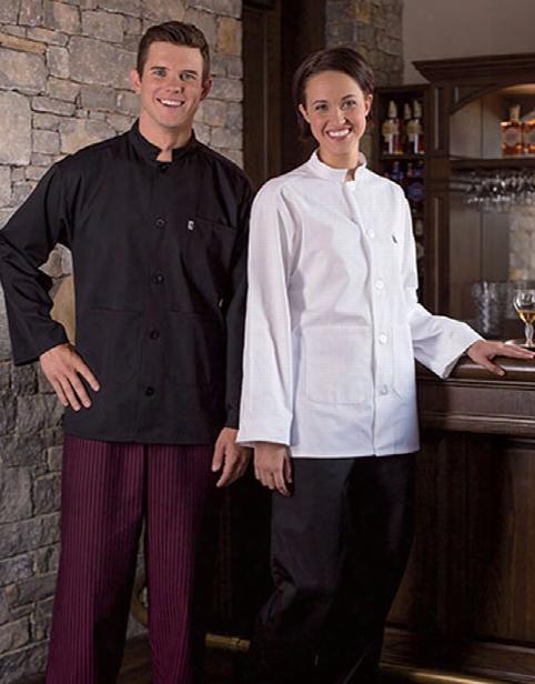Uncommon Threads Single Breasted Server Coat - Black - Unisex - Chefwear