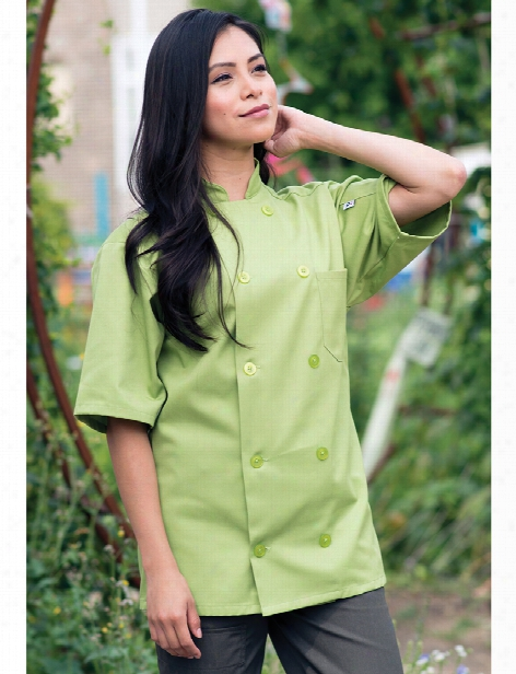 Uncommon Threads South Beach Chef Coat - Avocado - Unisex - Chefwear