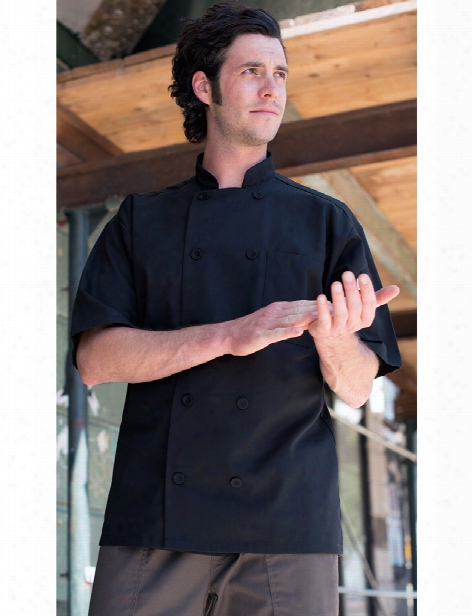 Uncommon Threads Tingo Chef Coat - Black - Unisex - Chefwear