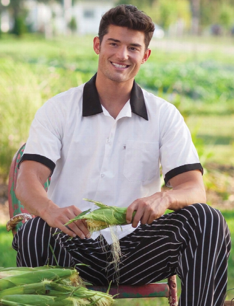 Uncommon Threads Trimmed Utility Shirt - White-black Trim - Unisex - Chefwear