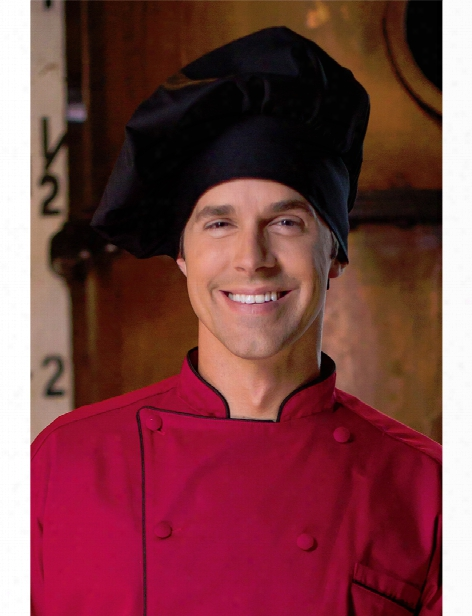 Uncommon Threads Twill Chef Hat - Black - Unisex - Chefwear