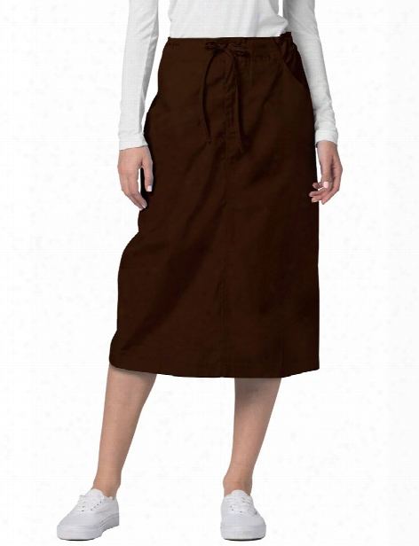 Adar Clearance Mid-calf Length Drawstring Skirt - Chocolate Brown - Unisex - Clearance