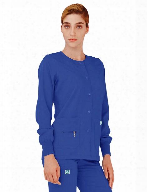 Adar Indulgence Jr. Fit Warm-up Scrub Jacket - Royal Blue - Female - Women's Scrubs