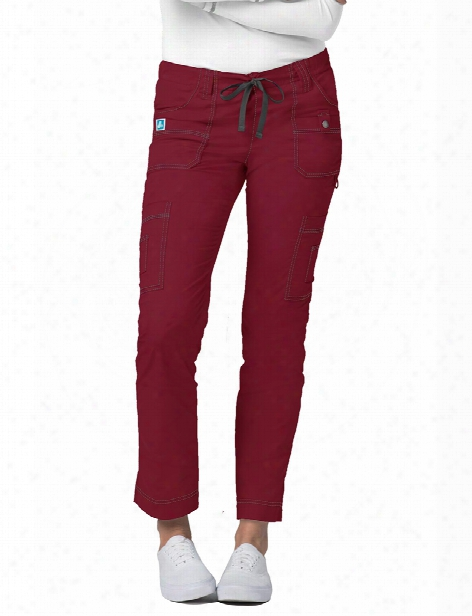 Adar Pop-stretch 11 Pocket Cargo Pants - Ceil Blue - Female - Women's Scrubs