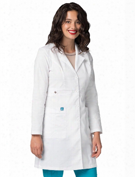 "Adar Pop-stretch 36"" Tab-waist Lab Coat - Female - Women's Scrubs"