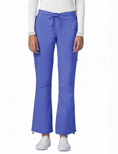 Adar Pop-stretch Low Rise Boot Cut Scrub Pant - Ceil Blue - Female - Women's Scrubs