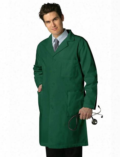 "Adar Universal 39"" Unisex Lab Coat With Inner Pockets - Hunter Green - Unisex - Unisex"