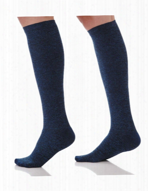 Amps Space Dyed Compression Knee High Socks - Space Blue - Female - Women's Scrubs