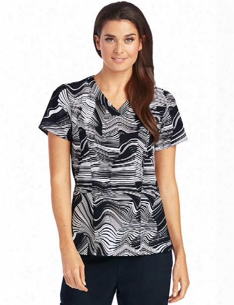 Barco One Origami Scrub Top - Print - Female - Women's Scrubs