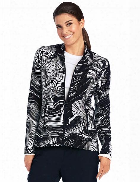 Barco One Origami Zip Jacket - Print - Female - Women's Scrubs