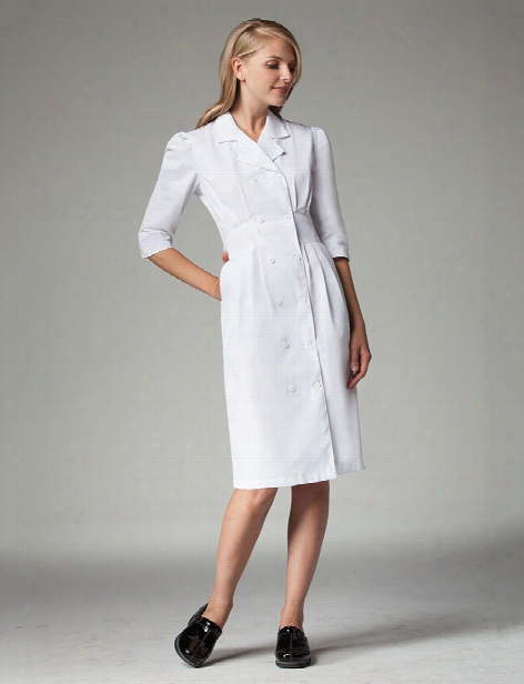 Barco Prima 3/4 Sleeve Button Front Dress - Print - Female - Women's Scrubs