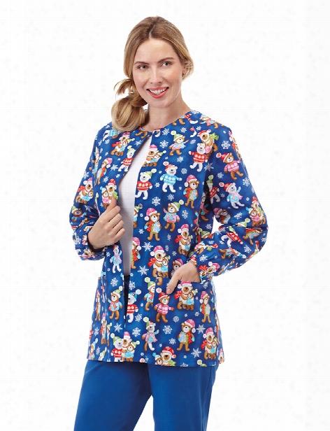 Bio Bearing Gifts Jacket - Print - Female - Women's Scrubs