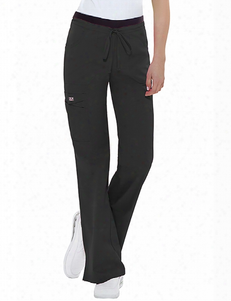 Cherokee Workwear Core Stretch Contemporary Fit Cargo Pant - Black - Female - Women's Scrubs