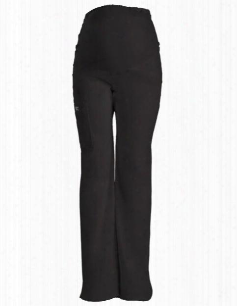 Cherokee Workwear Core Stretch Maternity Scrub Pant - Black - Female - Women's Scrubs