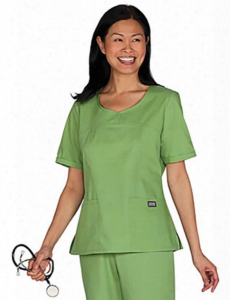 Cherokee Workwear Originals Fashion V-neck Scrub Top - Aloe - Female - Women's Scrubs