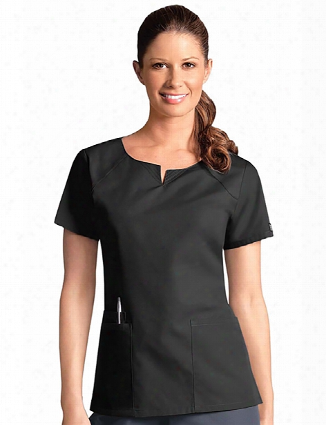 Cherokee Workwear Originals Round Neck Scrub Top - Black - Female - Women's Scrubs