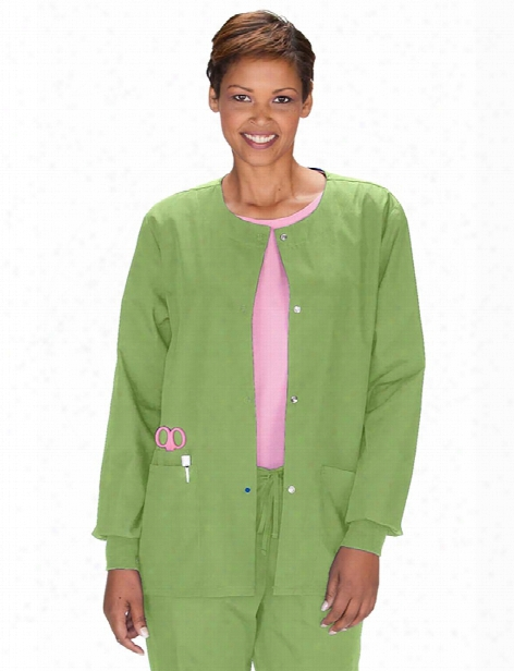 Cherokee Workwear Originals Warm-up Scrub Jacket - Aloe - Female - Women's Scrubs