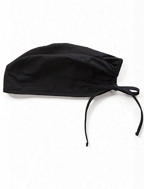 Cherokee Workwear Tie Back Scrub Cap - Black - Unisex - Unisex