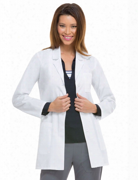 "Dickies Eds 32"" Lab Coat - White - Female - Women's Scrubs"
