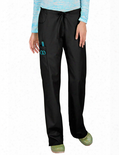 Dickies Eds Signature Missy Fit Mid-rise Drawstring Cargo Scrub Pant - Black - Female - Women's Scrubs